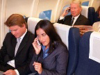 Mobile Cell Phone Service - The AeroMobile in-flight mobile GSM phone solution for airline passengers was installed on the new Boeing B777 Worldliner for the 2005 Paris Air Show and the airplane's World Tour. [Photo: Business Wire]