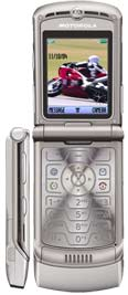Two views of Motorola's RAZR V3